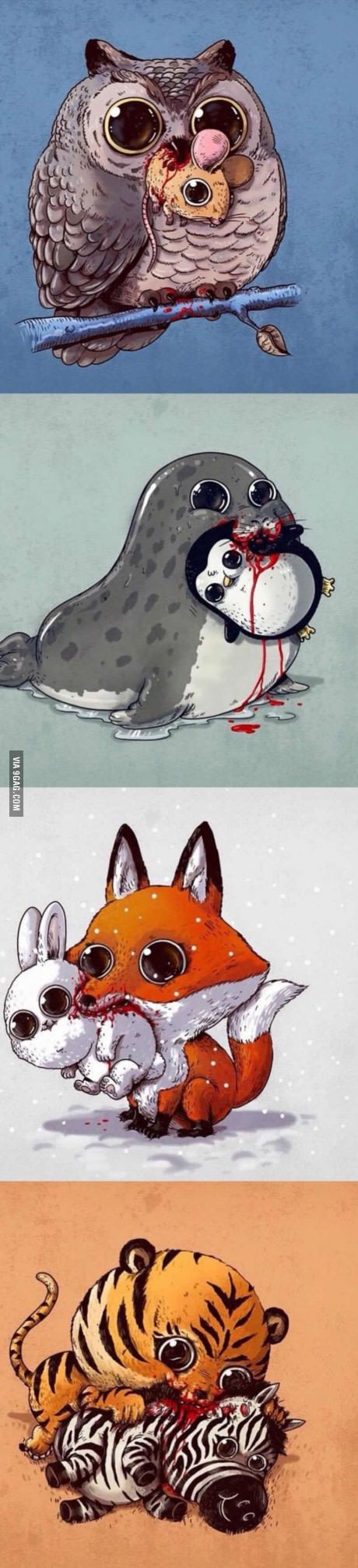 Cute little murderers (By Alex Solis)                                                                                                                                                                                 More