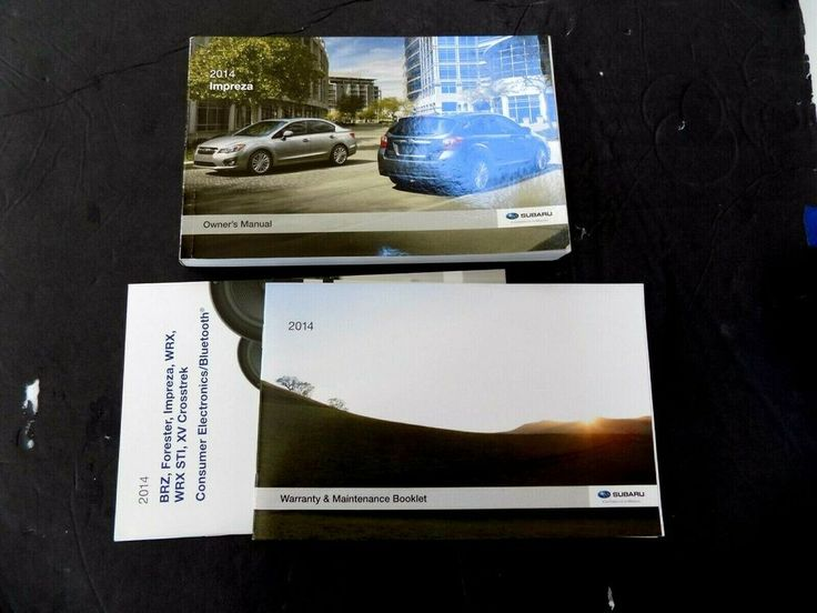 2014 Subaru Impreza Owners Manual Operator User Guide Book New Original Ebay Subaru Impreza Subaru Impreza