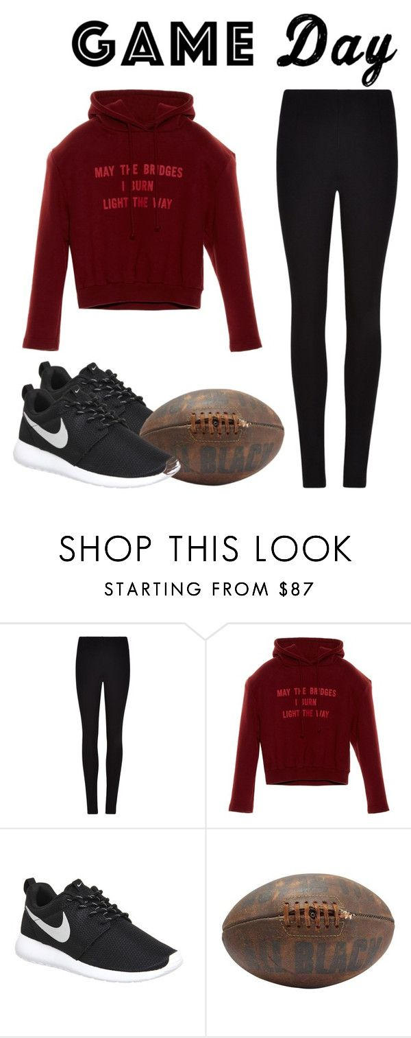 """Game day"" by sabrina-cupcake ❤ liked on Polyvore featuring Winser London, Vetements, NIKE, gameday and 60secondstyle"