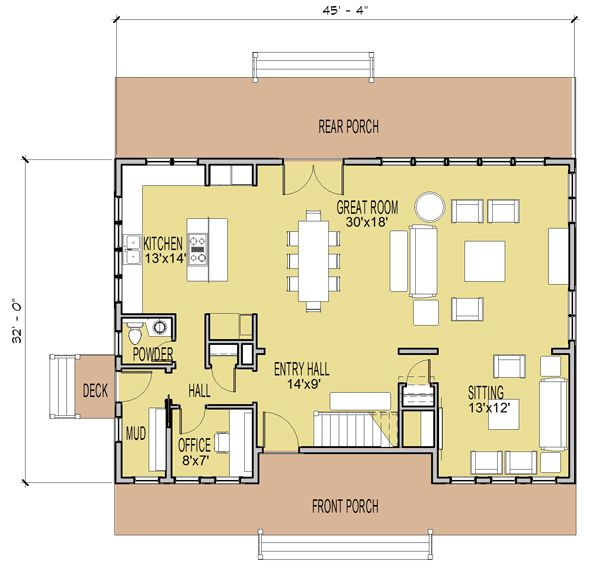 Marine farmhouse simply elegant home designs coastal Simply elegant house plans