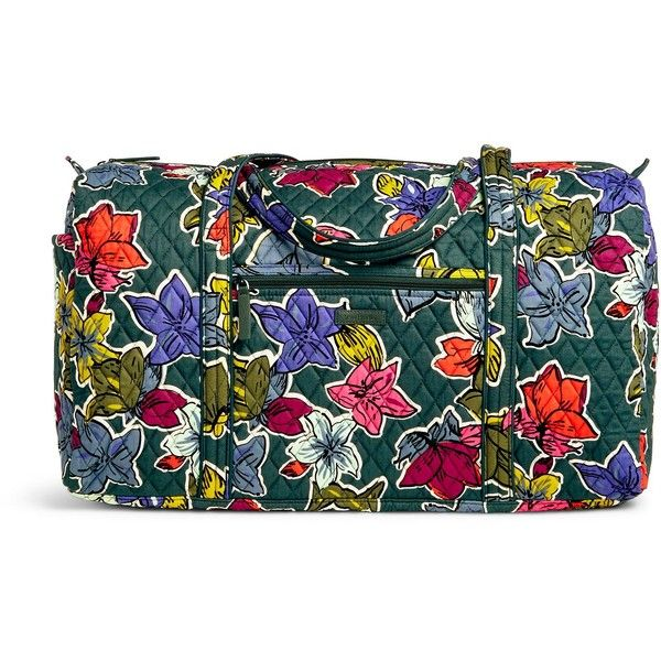 Vera Bradley Large Duffel ($85) ❤ liked on Polyvore featuring bags, luggage and falling flowers