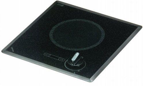 Kenyon B41517 6-1/2-Inch Mediterranean Single Burner Cooktop with Analog Control UL, 120-volt, Black