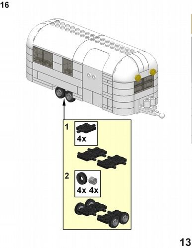 Airstream Trailer Instructions: A LEGO® creation by RTN LNA : MOCpages.com