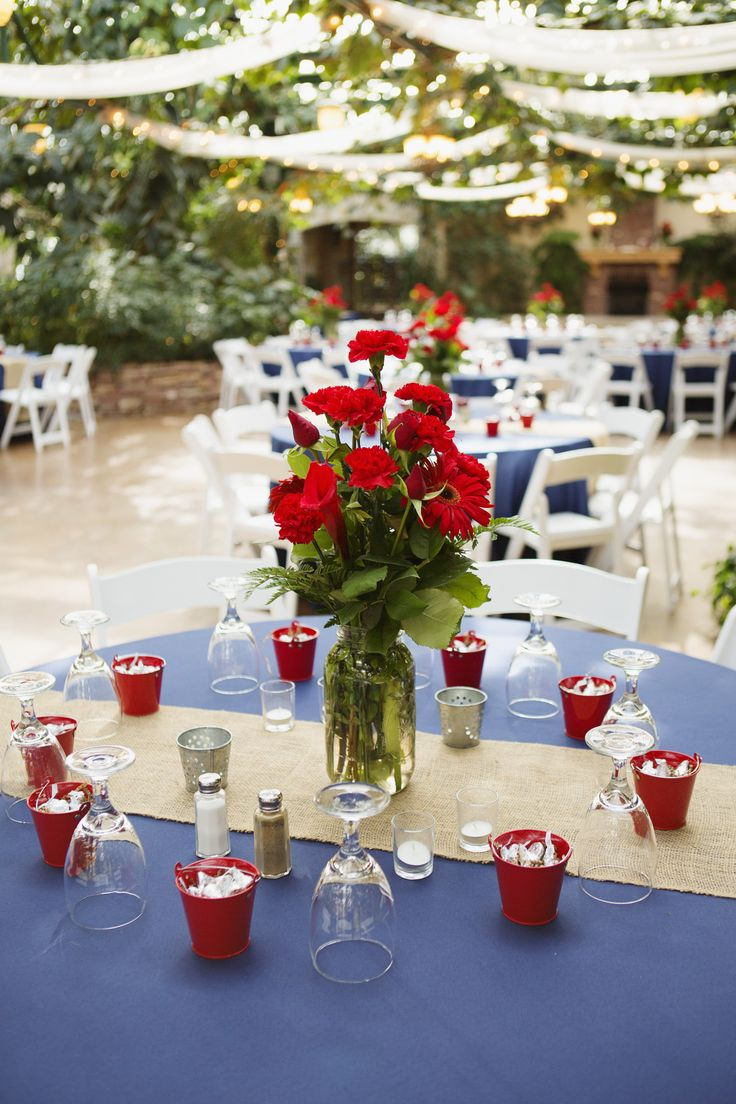 Nice Navy Blue And Red Wedding