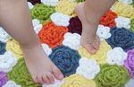Мобильный LiveInternet Цветочные коврики крючком. Идеи, мастер-классы | Корнейчук_Лидия -  Я всем желаю мира и добра!    |