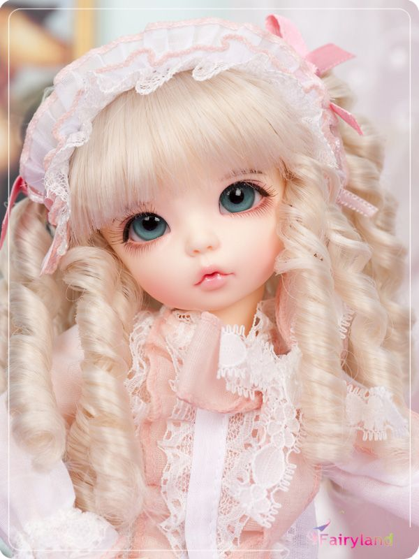 Free makeup&eyes included!TOP quality 1/6 bjd baby doll fairyland LittleFee Ante Luna Bisou sleepy face best gifts art cute