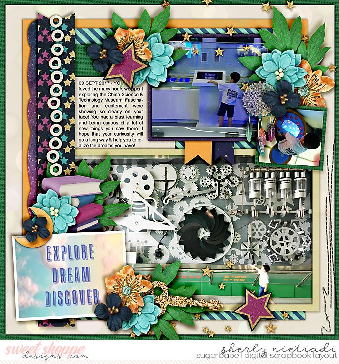 Sept 2017 SSD Bingo Challenge: #21 Explore, Dream, Discover. Half pack 206 - photo focus 88 template by Cindy Schneider (rotated) http://www.sweetshoppedesigns.com/sweetshoppe/product.php?productid=37654&cat=944&page=1 We are dreamers by Sweet Shoppe Designs