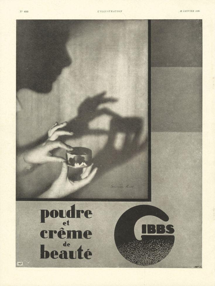 Publicité Gibbs, L'Illustration no. 4533, 18 janvier 1930 (Germaine Krull)