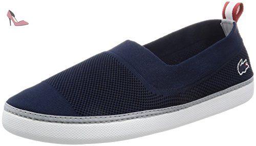 Lacoste Homme Lydro 117 1 CAM Slip-on Formateurs, Bleu, 42 - Chaussures lacoste (*Partner-Link)