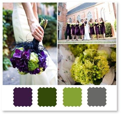 Dark Green And Grey Wedding Ideas