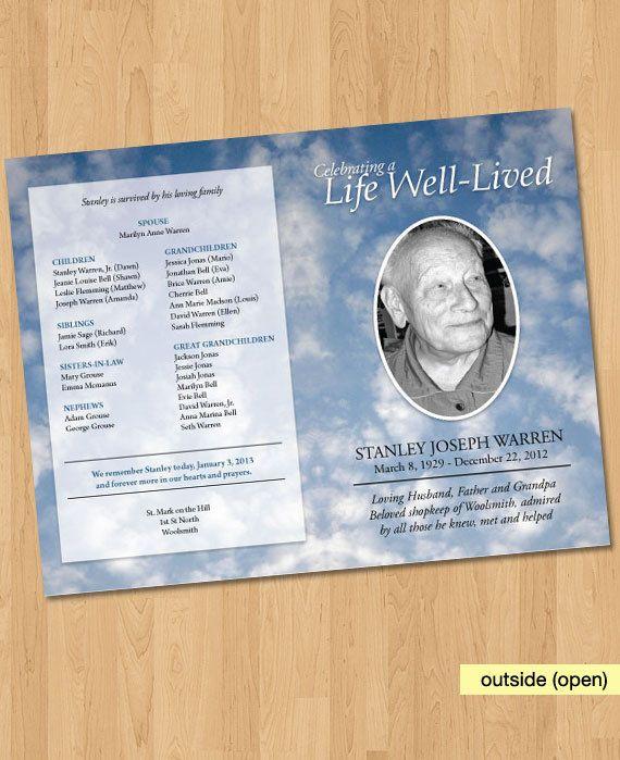 37 best Programs \ Tokerns images on Pinterest Bridal - funeral program background