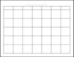"""Free Printable Blank Monthly Calendar. i use for blog goal setting, personal plans, and meal planning calendars. Print 12 and sew together along the top to """"bind"""" or add to binder system."""