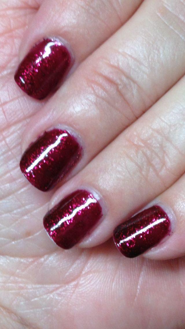 CND Shellac color Garnet Glamour  By Elayne Scott of  Nails By Elayne in Corydon Indiana