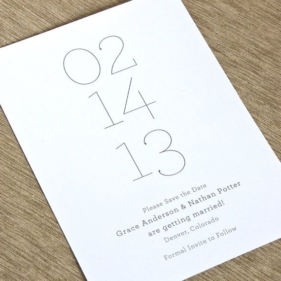 Minima  Save the Date  DEPOSIT by paperandparcel on Etsy, $25.00