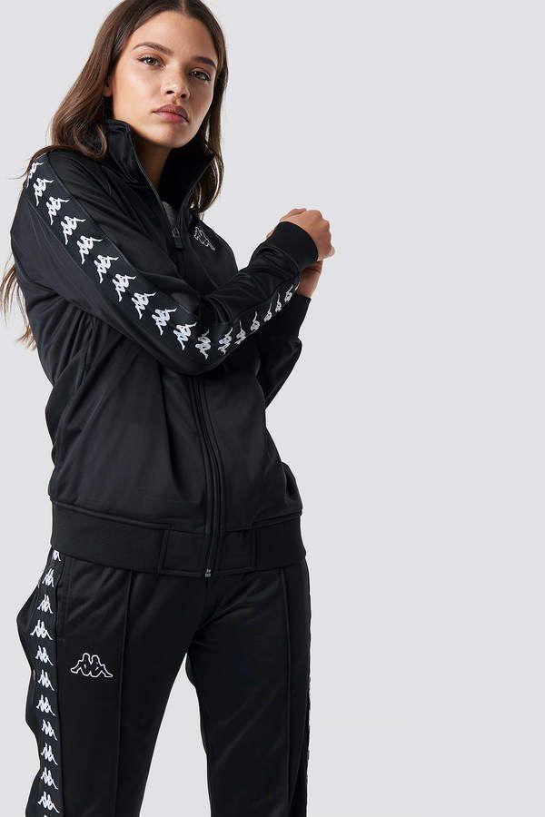 f752492096a Kappa Anniston Track Jacket Black/White | Sport Fashion ♥ | Jackets ...
