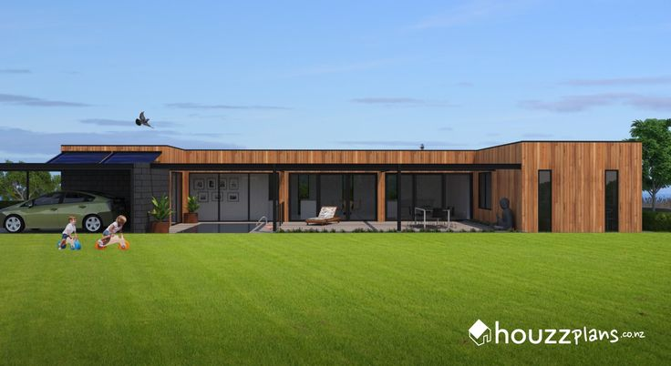 Skye - Modern Contemporary House Plan .... Browse all house plans here: www.houzzplans.co.nz