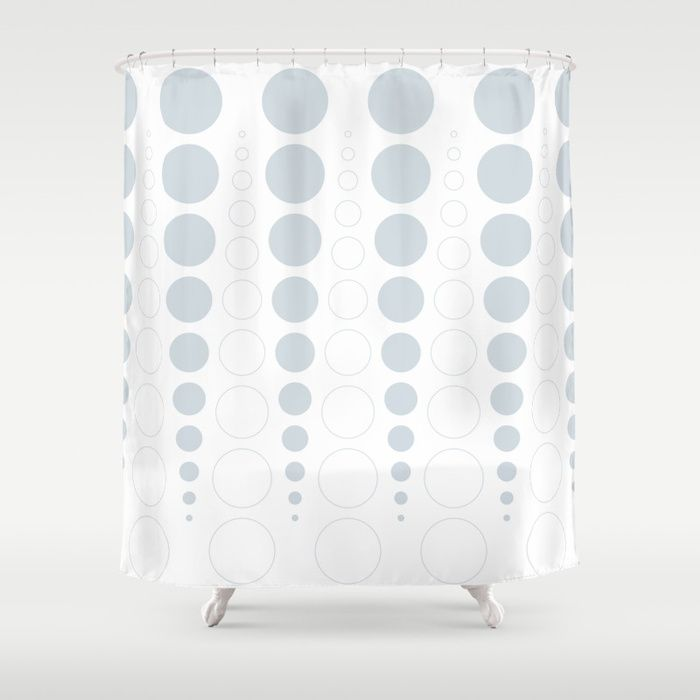 Up and down polka dot pattern in white and a pale icy gray Shower Curtain #showercurtain #bathroomideas #homedecor #bathroomdecor #vrijformaat #society6 #bathroom #pattern #grey #gray #bubbles #circles #polkadots #dots #abstract