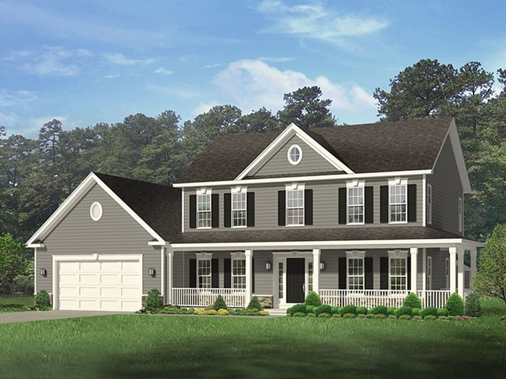 Eplans country house plan country style home with wrap for Country style house plans with wrap around porches