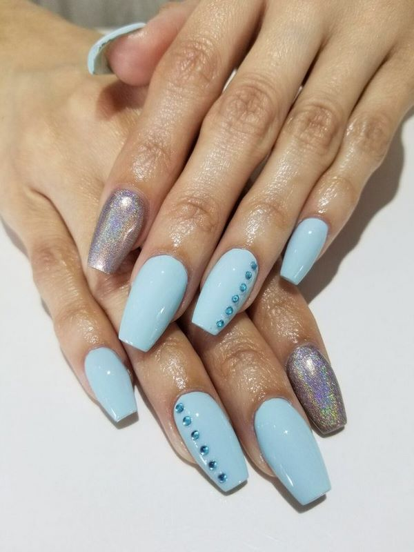 743 best nail art ideas images on pinterest finger nails and flowers blue nail art ballerina nails nails manicure prinsesfo Choice Image