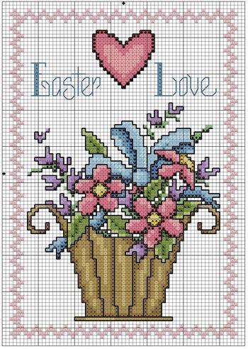 Flower Basket for Easter