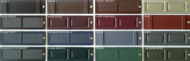 Shutter Colors For Tan Siding And Brown Roof Mastic