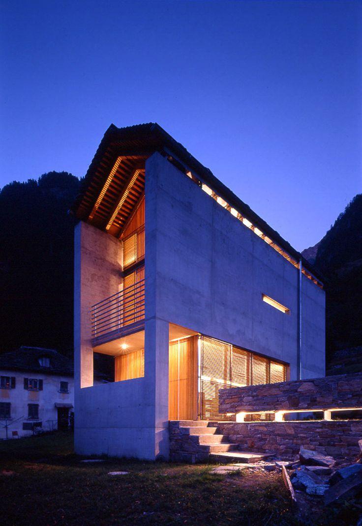 "subtilitas: "" Davide Macullo - Swiss house I, Rosa 1998. Photos © the architect. """