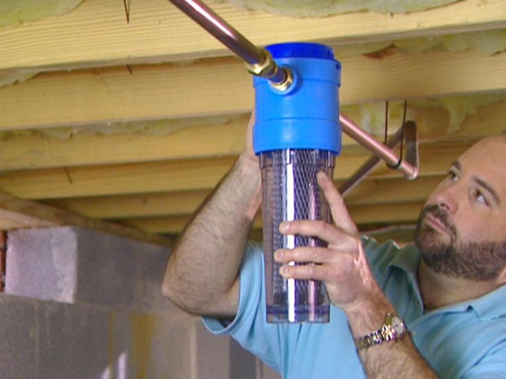 DIYNetwork.com experts demonstrate how to install a whole-house filter in the main water line. This system filters all of the water coming into a house.