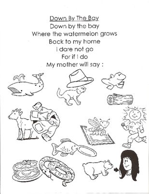 Down By The Bay- fun with rhyming words from Pams Press on