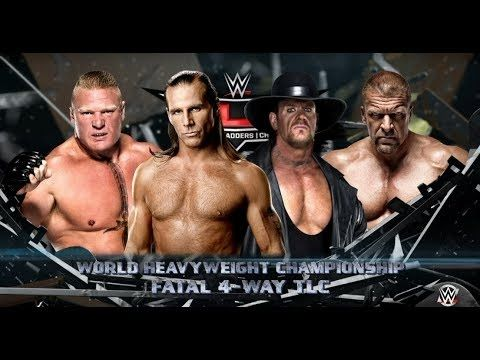 WWE-2K16 -Undertaker vs Brock Lesnar vs Triple H vs Shawn Michaels:WWE W...