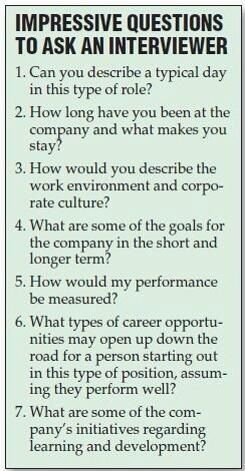What to ask an interviewer - could be very useful!
