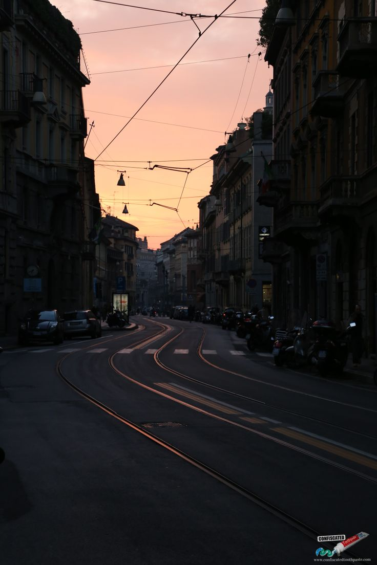 Milan sunset. A Roadtrip through the Swiss Alps from Paris to Italy --> http://www.confiscatedtoothpaste.com/a-roadtrip-through-the-swiss-alps-from-paris-to-italy/
