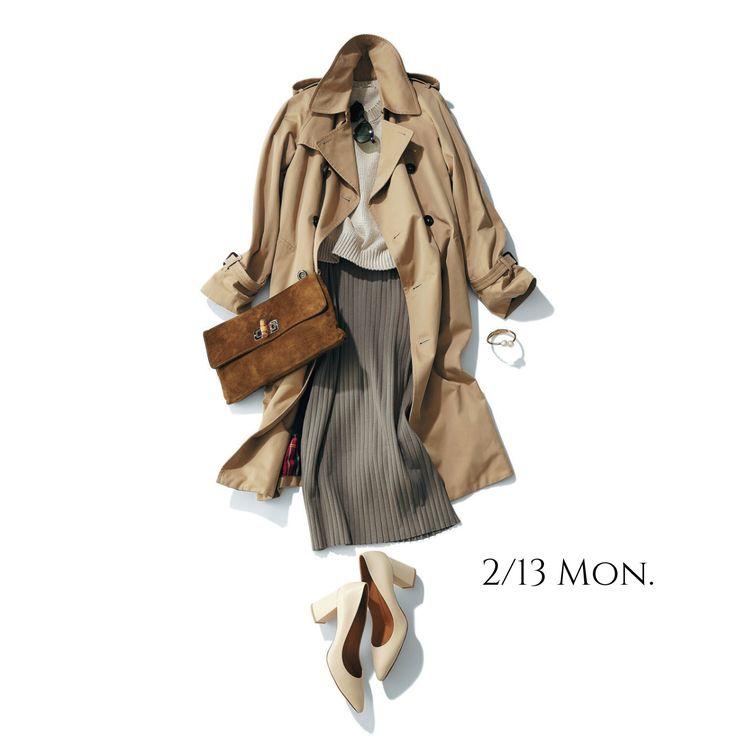 ミラノマダムを意識したベージュ〜グレーのグラデーションコーデが粋Marisol ONLINE|女っぷり上々!40代をもっとキレイに。
