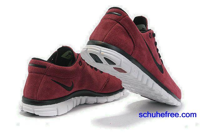 Herren Nike Free 3.0 V2 Anti -Pelz-Schuhe Wine Red