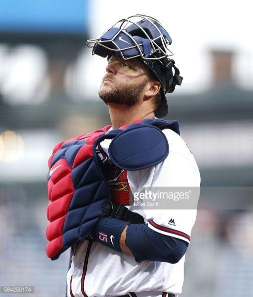 News Photo : Catcher A.J. Pierzynski of the Atlanta Braves...