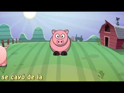 LOS COCHINITOS - Canciones Infantiles- Didactica para Niños con letras - YouTube