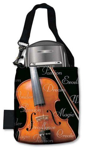 "Cell Phone Pouch - Violin by Music Treasures Co.. Save 45 Off!. $10.99. Photograph Image on both sides of soft satin washable surface. Fully-lined and features a strong high quality web handle and snap hook. Fits smart phones. 3.5"" x 4.25"" H."