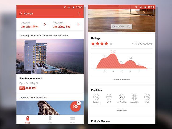 hottel - hotel reservation app renewal by Jay Lee
