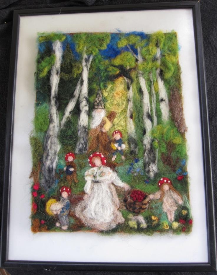 Waldorf Photo Print of my original Needle felted wool painting ...