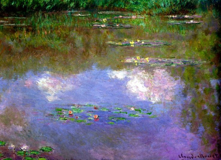 Claude Monet. Water Lilies, the Clouds (1903).