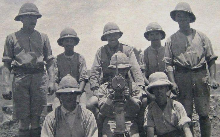 Men of 2nd Battalion, Loyal North Lancashire Regiment, German East Africa (Tanzania), circa 1915