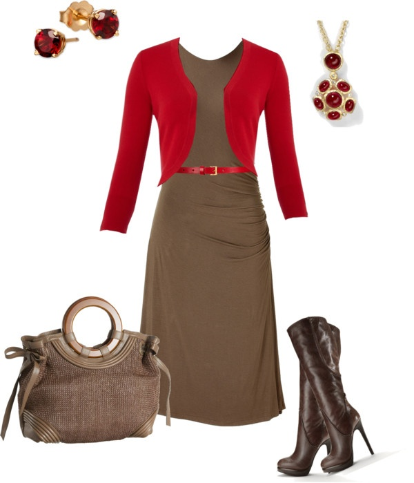 """Wow... I love this a lot!""""red and brown"""" by sanitaalagic ❤ liked on Polyvore"""
