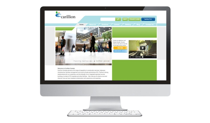 When Carillion Canada acquired Vanbots Construction, a top tier construction industry company in Canada, they chose to work with KITESTRING to help communicate this transition in multiple mediums.