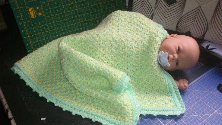Manta para carro de paseo de bebe | De ganchillo: mis mantas ...
