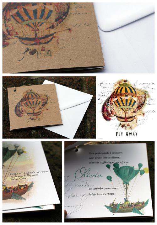 Faire part de naissance thème nature en papier recyclé theme abeilles, nature, rigolo