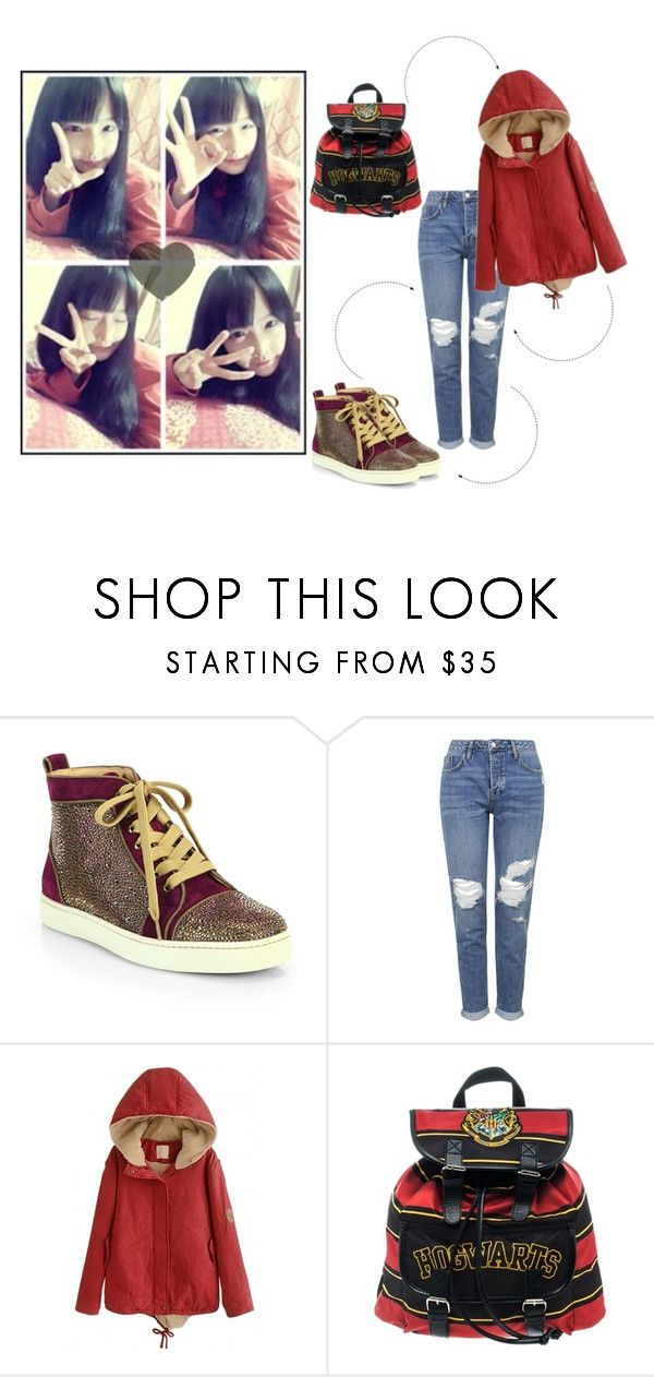 """""""Ulzzang #36"""" by bacon-coreano ❤ liked on Polyvore featuring Christian Louboutin and Topshop"""