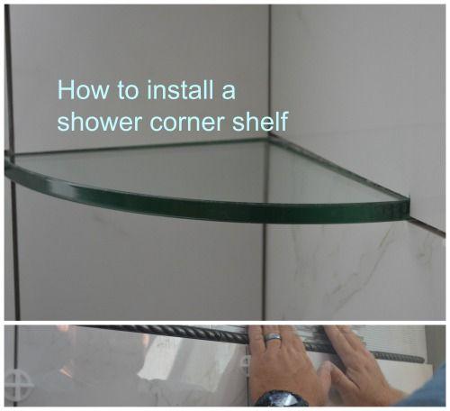 Installing Shower Corner Shelf