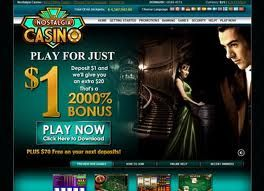 Nostalgia Casino Sign-up Bonus: Purchase 1€ get 20€ free AND 480€ FREE on the next 4 deposits. Minimum Deposit: 1€ on first purchase, then 20€ on subsequent purchases.