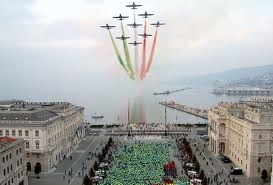 le frecce tricolori a Trieste