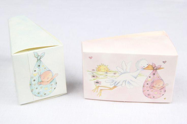 12 pcs-Stork Cake Box