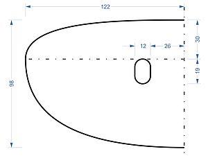 Собственно это уже выкройка раскладки ( половинка), увеличенная в 1,4 раза , размер готового жилета 48-52. Если хотите , чтобы жилет был и шарфом, то это три тонких слоя мериноса ( 120-130г) плюс декор- кудри , руно (в этом жилете - 150г).